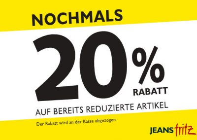 Aktion bei Jeans Fritz