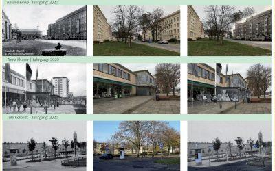 Fotocollagen zum Thema 70 Jahre Eisenhüttenstadt
